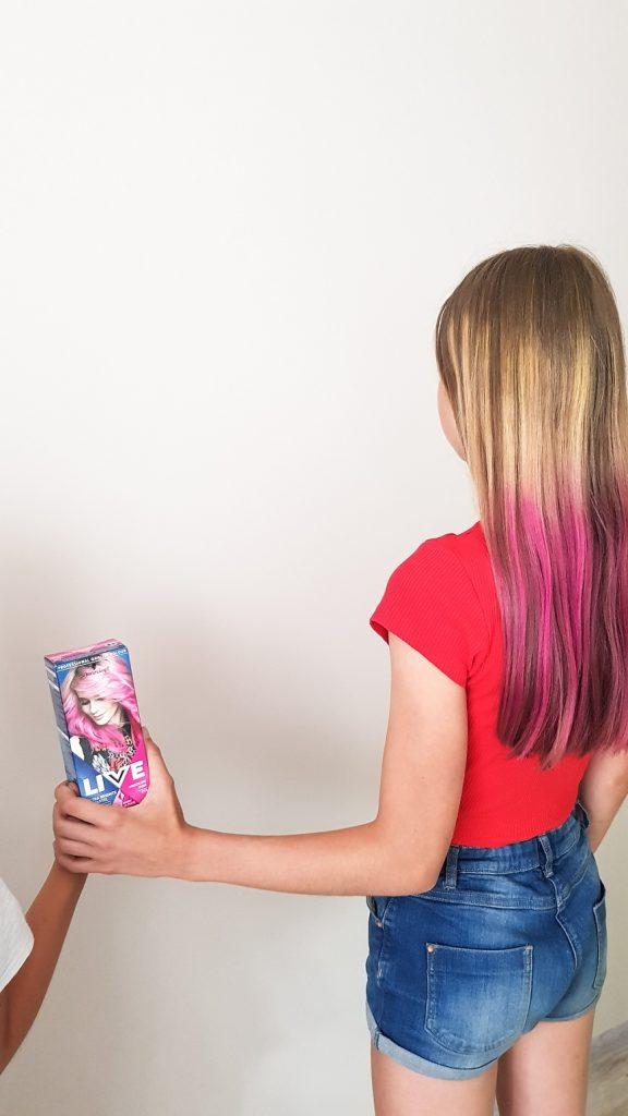 zmywalna farba do włosów